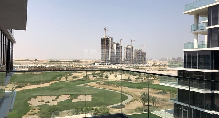 Golf Course & Pool View 1BR Damac Hills - imexre.com